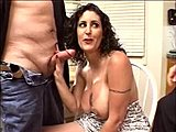 Group, High definition, Milf, Big tits, Boobs, Fingering, Husband watches, Facial, Pussy, 3 some, Horny, Blowjob, Lick, Watching, Husband, Tits, Brunette, Wife, Kitchen