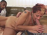 Old woman, Group, Mature, 3 some, Cock, Blowjob, Fucking, Lady, Old