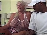 Grandmother, Mature, Big black cock, Milf, Old, Swallow, Granny, Interracial, Big cock, Cum, Monster cock, Cock