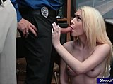 Police, Burglar, At work, Sex, Pussy, Teen, Small tits, Blonde, Blowjob, Oral, High definition, Office, Tits, Hidden, Drilled, Hidden cam