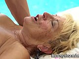 Old woman, Hardcore, Grandmother, High definition, Blonde, Old, Lady, Granny, Outdoor, Blowjob