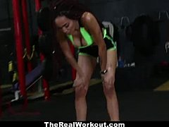 Workout, Hardcore, Fucking, Babe, High definition, Black, Reality, Ebony, Big tits, Boobs, Blowjob, Interracial, Tits, Cock, Monster cock, Big cock