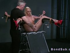 Punished, Submission, Maledom, Tied up, Domination, Master, Bdsm, Kinky, Choking, Big tits, Nipples, Blonde, Toys, Fetish, Deepthroat, Gagging, Slave, Rough, Vibrator, Pussy, Babe, Tits, Latex, Squirting, Bondage, Bound