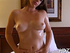 Hairless, Bathroom, High definition, Brunette, Hardcore, Teen, Lady, Shaved, Blowjob