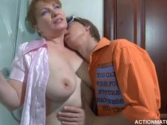 Grandmother, Cougar, Mature, Huge, Young, Fucking, Natural tits, Cock, Blowjob, Old and young, Russian, Boobs, Wife, Titty fuck, Granny, Old, Mommy, Big tits, Tits, Sucking, Mom and boy