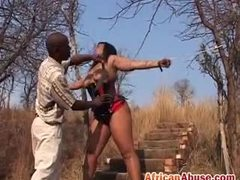 Bound, Teen, Leather, Bondage, Boobs, Black, Chained, African, Babe, Outdoor, Ebony, Tits, Bdsm, Big tits