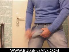 Big cock, Jeans, Cock, Monster cock, High definition, Gay, Bisexual, Amateurs