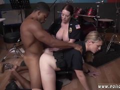 Office, Police, At work, Blonde, High definition, Rough, Interracial, Big tits