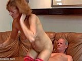 Mommy, Mature, Milf, Old, Cock, Sexy, Stockings, Lover, Double, Cougar, Redhead
