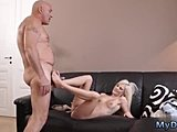 Hardcore, Old and young, Blonde, Anal toys, Horny, Young, Ass, Old man, Teen, Dad and girl, Toys, Old, Blowjob