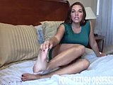 Toes, Footjob, Fetish, Teasing, Cock, Lick, Sucking, Jerk off instructions, Pov, Feet, Lesbian, Sex, Jerking off