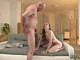 Hardcore, Sex, Babe, Old and young, Young, Dad and girl, Blowjob, Old, Russian