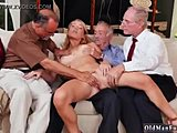 Old and young, Not sister, Blonde, Blowjob, Friend, Old, Young, Teen, Not brother, Handjob, Facial