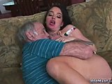 Hardcore, First time, Old and young, Dad and girl, Brunette, Old, Daddy, Blowjob, Fucking, Instruction, Wrestling, Handjob, Teen