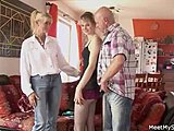 Old, Group, Mommy, Grandmother, 3 some, Granny, Old man, Mature