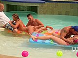 Assfucking, Group, Deepthroat, Pool, Double, Doggystyle, Anal, Outdoor, Bent over, Bikini, Orgy, Double penetration, Blowjob, Sucking, Cumshot, Facial, Riding