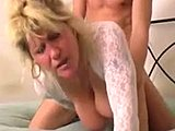 Mommy, Old and young, Mature, Blonde, Big tits, Boobs, Stockings, Tits, Not son, Blowjob, Daddy