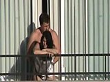 Caught, Amateurs, Hidden cam, Public, Milf, Brunette, Voyeur, Hotel, Fucking, Hidden, Cute, Outdoor, Balcony