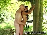 Cumshot, Babe, Old and young, Old man, Public, Old, Brunette, Young, Fucking, Dad and girl, Blowjob, Outdoor, Strapon
