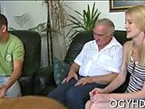 Cunilingus, Dad and girl, Deepthroat, Pussy, Blowjob, Muff diving, Cock, Young, Blonde, Lick, Teen, Big cock, Old, Monster cock, Russian