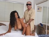 Nurse, Old and young, Black, Old man, Ebony, Big tits, Patient, Hospital, Fucking, Tits, Young, Old, Blowjob