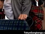 Banging, Group, Bus, Japanese, Teen, Asian, Blowjob, Gangbang
