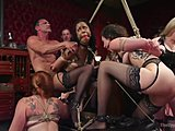 Lingerie, Group, Fetish, Latina, Ebony, Slave, Tits, Toys, Natural tits, Orgy, Tied up, Cock, Bdsm, Fisting, Big cock, Monster cock, Black