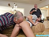 Hairless, Old and young, Grandfather, Young, Schoolgirl, Facial, Fucking, Dad and girl, Old, Shaved, Wanking