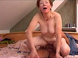 Young, Grandmother, Granny, Mature, Old, Horny