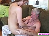 Nasty, Hardcore, Sofa, Brunette, Dad and girl, Cock, Young, Daddy, Blowjob, Old, Big cock, Cute, Monster cock, Teen
