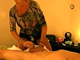 Cumshot, Spying, Massage, Handjob, High definition, Cum, Masturbation, Brunette