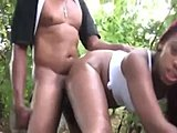 Nature, Chubby, Ghetto, Ebony, Outdoor, Forest, Bbw, Huge, Black, Big black cock, Cock, Blowjob, Oral, Sucking, African, Lady, Fat, Monster cock, Public