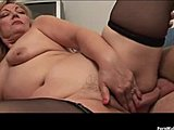 Grandmother, Bbw, Mature, Cock, Old, Young, Tits, Granny, Fat, Saggy tits