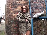Flashing, Amateurs, Upskirt, Pussy, Snow, Sexy, Striptease, Tits, Voyeur, Skirt, Clothes ripped, Undressing, Street, Outdoor, Nude