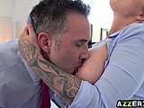 Assfucking, At work, Boss, Horny, Blowjob, Anal, Office, Milf, Blonde, Fucking