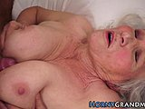 Titty fuck, Grandmother, Sucking, Pussy, Granny, Hairy, Fucking