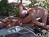 Caught, Dad and girl, Sucking, Old and young, Cock, Old man, Girlfriend, Young, Friend, Old, Fucking, Teen, Swallow, Hardcore, Blowjob