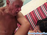 Amateurs, Babe, Cock, Old, European, Grandfather, Teen, Young, Brunette, Legs