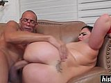Hardcore, High definition, Ass, Brunette, Cock, Old, Blowjob, Big tits, Tits, Big cock, Young, Monster cock, Facial