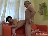 Not daughter, Hardcore, Old and young, Sucking, High definition, Dad and girl, Small tits, Cock, Brunette, Drunk, Doggystyle, Fucking, Tits, Old, Young, Bent over