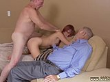 Cumshot, Uncle, Old and young, Doggystyle, Young, Clothes ripped, Dad and girl, Teen, Bent over