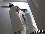 Uniform, Hidden, Hidden cam, Patient, Young, Japanese, Nurse, Asian, Hospital, Voyeur, Blowjob