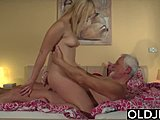 18-19 years, Old, Young, Old and young, Fingering, Masturbation, Squirting, Blowjob, Swallow, Dad and girl, Fucking, Teen, Pussy, Grandfather, Orgasm