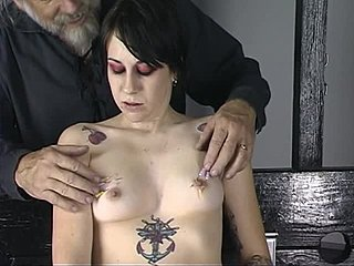 Young Tattooed Brunette Gets Her Nips And Tits Tortured With Needle Play Tubev Sex