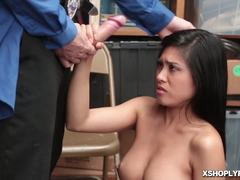 Snow, Hardcore, Police, Sucking, Cock, Blowjob, Office, Teen, At work